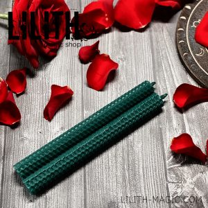 Зеленая свеча из вощины алтарная (зелёная)