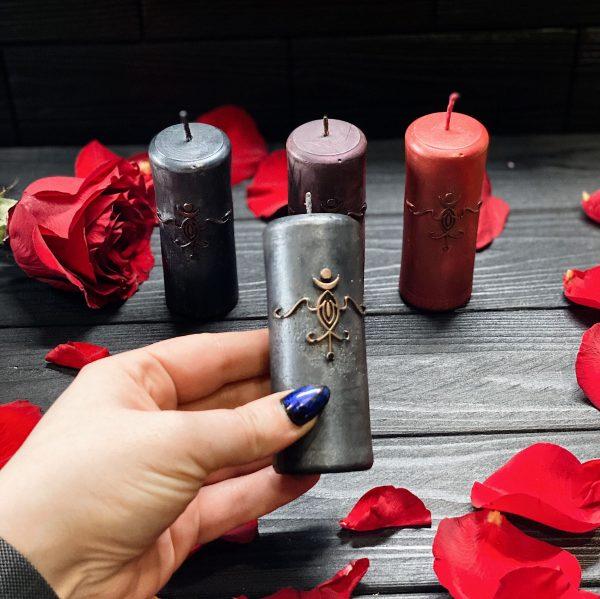 Свеча с сигилом Ама Лилит