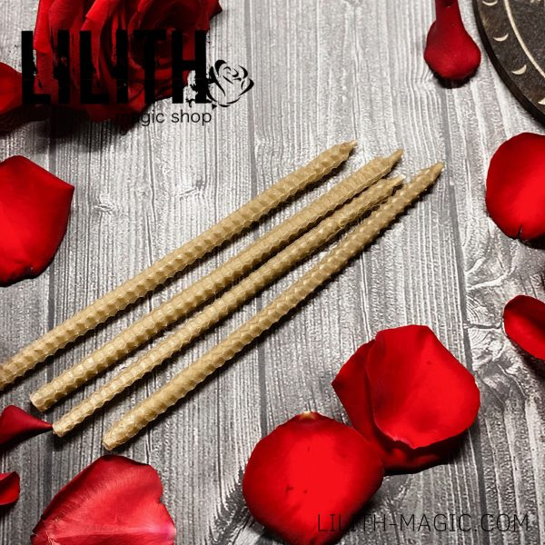 Set of 10 Rolled Beeswax Candles