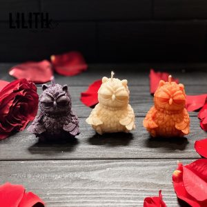 Owl Beeswax Figurine Ritual Candle