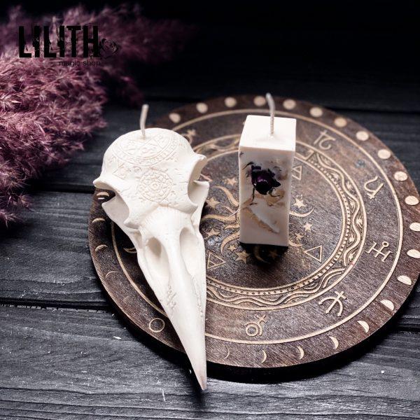 Алтарная свеча «Вороний череп»🦅