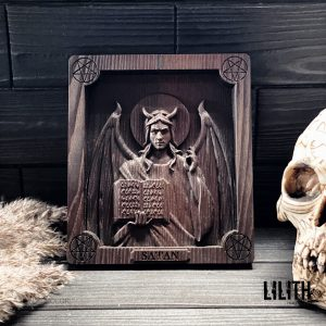 Satan Wooden Icon for Appealing to Satan or Strengthening Black Magic Spells