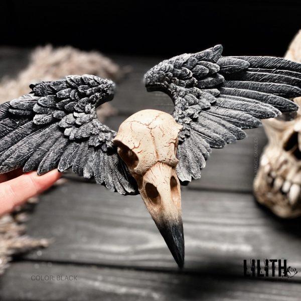 Статуэтка «Череп Ворона с Крыльями»