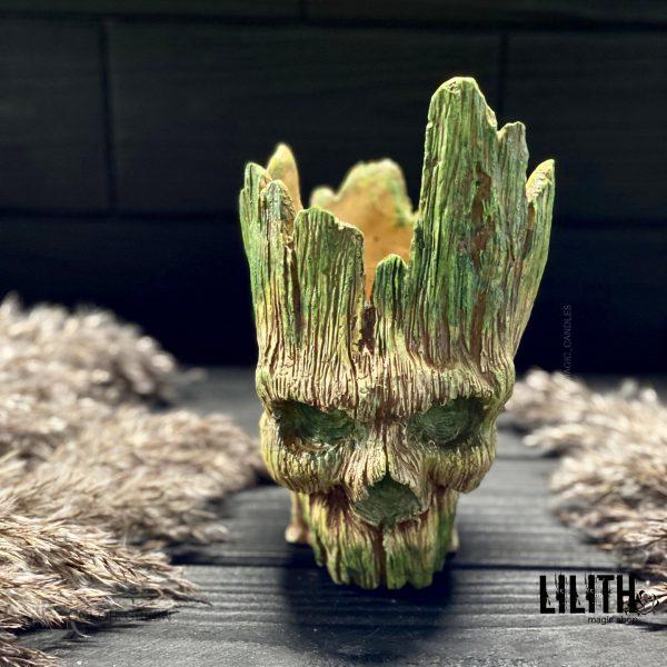 Forest Spirit Gypsum Figurine – Clear Varnish Finish