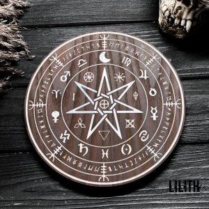 Пентакль «Спиритический» из ясеня — диаметр 8 дюймов