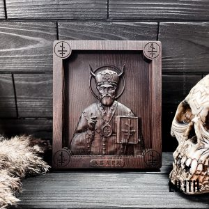 Church Demon Abara Wooden Icon for revenge spells and removing protections given to a person by Christianity, prayers, and church