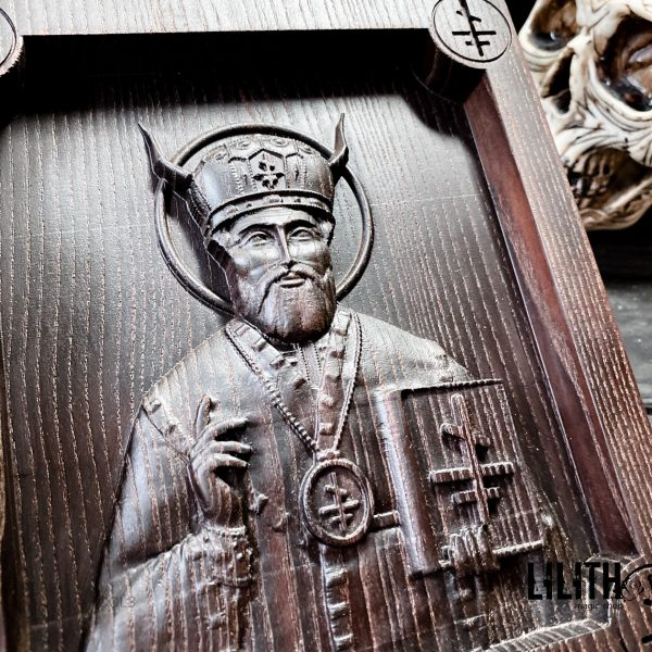 Черная икона «Церковный Бес Абара»