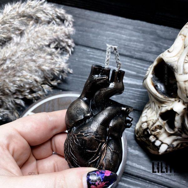 Heart Beeswax Ritual Candle for Love Magic