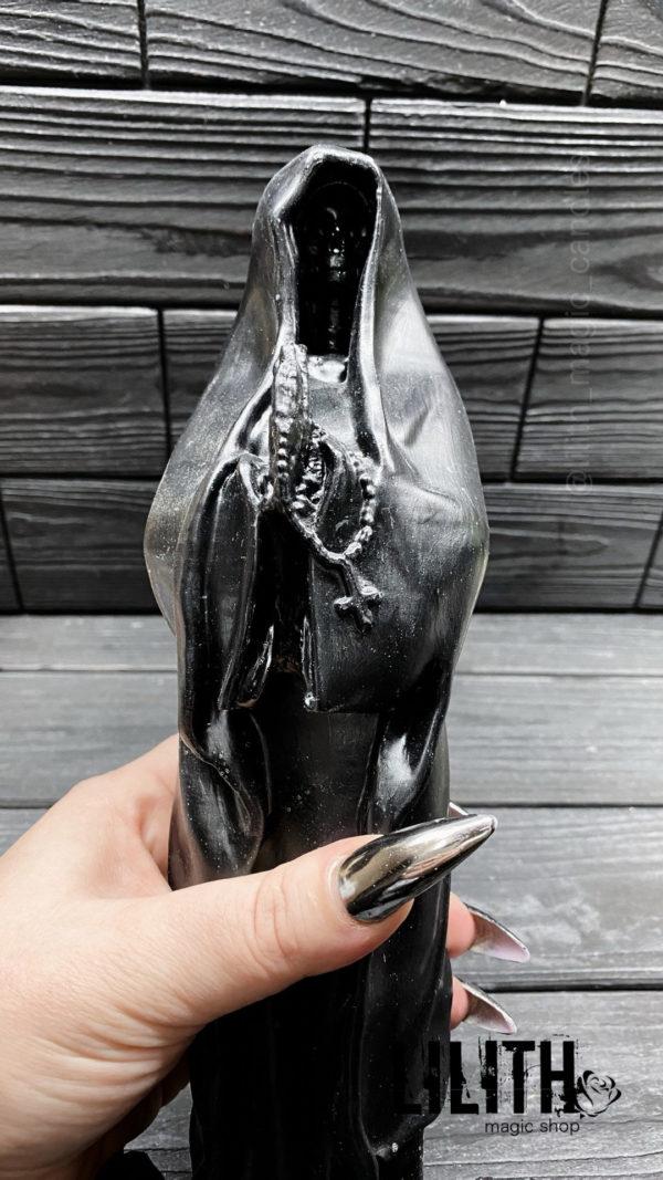 Santa Muerte (Holy Death) Big 11.8 Inches Gypsum Figurine – Clear Varnish Finish