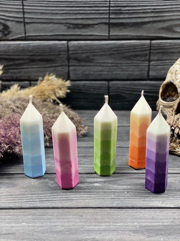 Свеча-кристалл из соевого воска