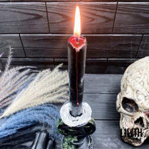 Набор из 4-х свечей для приворота – черные снаружи, красные внутри