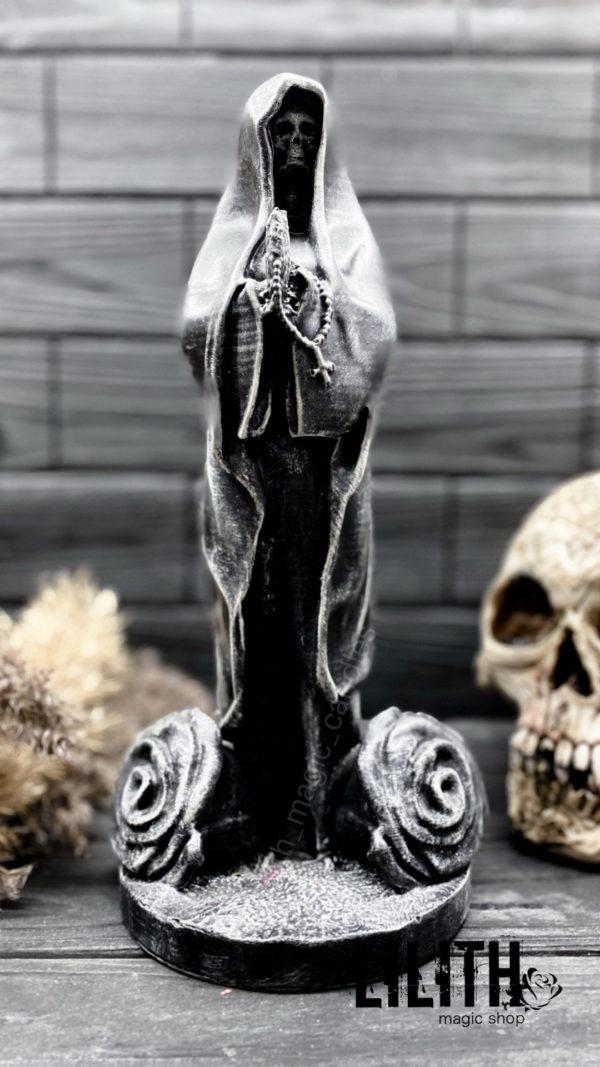 Акция – серая статуэтка Смерти (Santa Muerte)💀 30 см из высокопрочного гипса