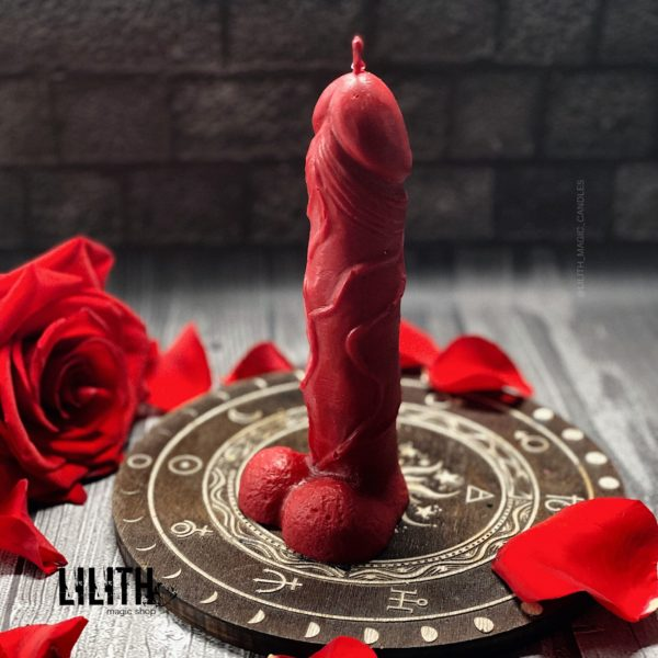Свеча «Фаллос» красная