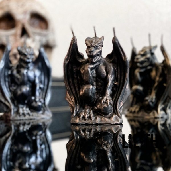 Gargoyle Beeswax Ritual Candle for Black Magic Protection Spells
