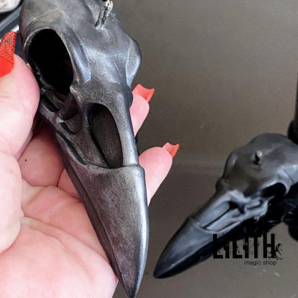 Raven Skull Beeswax Ritual Candle