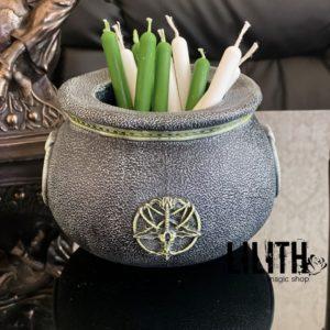 Resin Witch Cauldron – Clear Varnish Finish