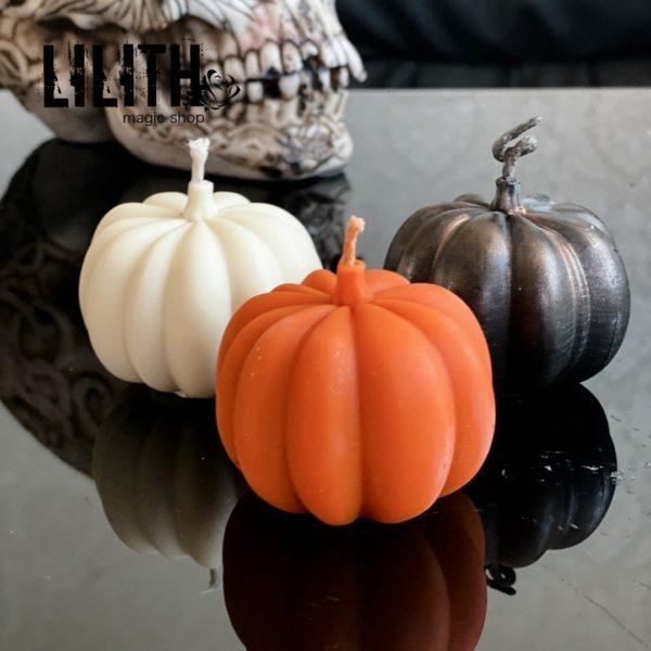 Pumpkin Beeswax Ritual Candle